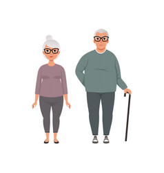 Senior couple man and woman of advanced age vector