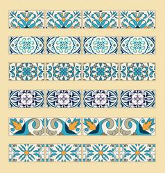 Set of decorative tile borders vector