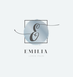 simple elegant initial letter e logo type sign vector image
