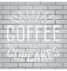 Slogan brickwall light coffee vector