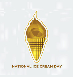 sticker national ice cream day vector image