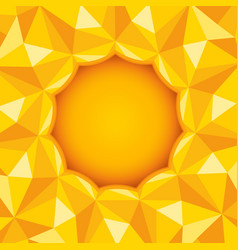 sun and polygons vector image