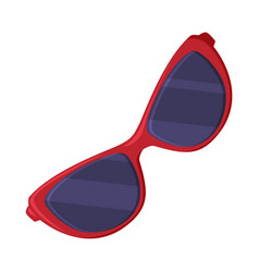 Sunglasses as travel and tourism attribute vector