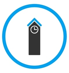 Time tower rounded icon vector