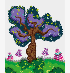 Tree forest isolated vector