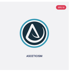 Two color asceticism icon from religion concept vector