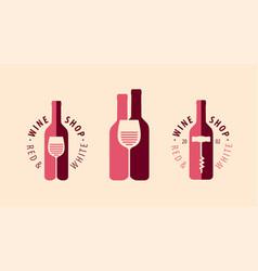 wine symbol logo winery restaurant drink vector image