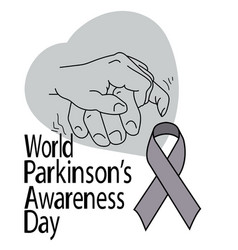 world parkinsons awareness day support hand vector image