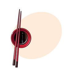 bamboo asian chinese japanese chopsticks lying vector image vector image