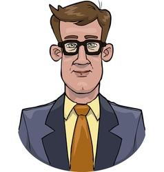 bust businessman vector image