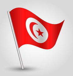 flag tunisia vector image