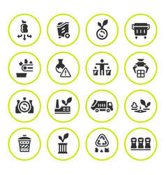 set round icons of recycling vector image