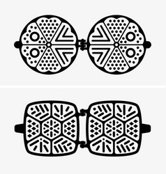 waffle iron vector image