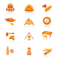 Camping set - JUICY series vector image vector image