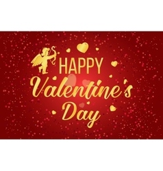 Happy valentines day lettering text vector