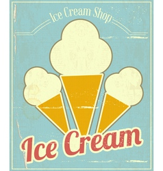 Ice Cream Vanilla Card vector image vector image