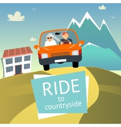 Ride to Countryside vector image vector image