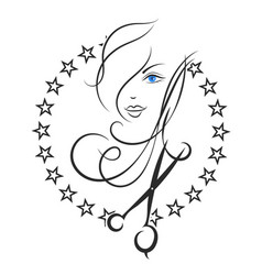 symbol of beauty and hair salon vector image vector image