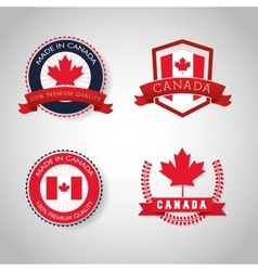 Canadas County design Maple leaf icon Seal stamp vector image vector image