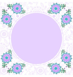 floral decorative frame with place for text vector image