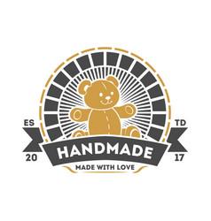 handmade needlework studio isolated label vector image