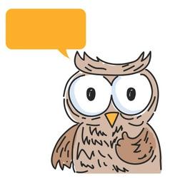 Owl Balloon Talk vector image vector image