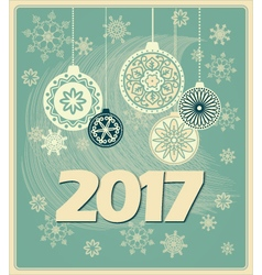 vintage new year card 2017 vector image vector image