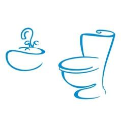 Bathroom symbols vector image vector image