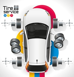 Car Tire Service vector image vector image