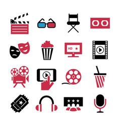digital red blue 16 cinema vector image vector image