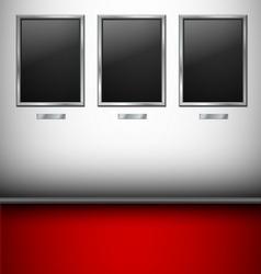 Empty Pictures in gallery vector image