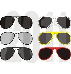 fashionable sunglasses vector image vector image