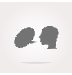 Human head with speech bubble icon web vector image vector image