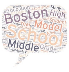Middle School May Be Passe Within The Boston vector image vector image