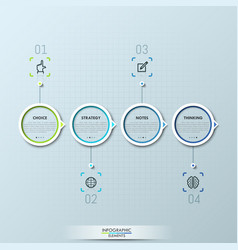 modern infographic design template with 4 circular vector image vector image