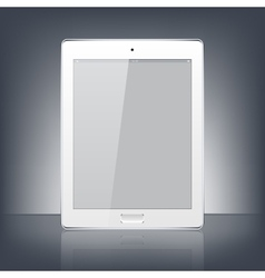 Modern white digital tablet PC isolated on the vector image