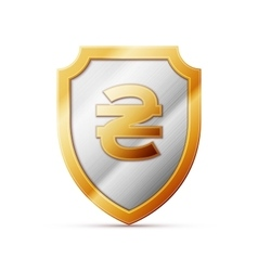 shield with Hryvnia sign vector image
