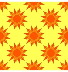 Sunny Orange Seamless Pattern vector image vector image