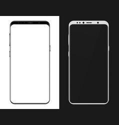 3d realistic phone mockup smartphone black vector image