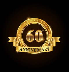 60 years anniversary celebration logotype vector image