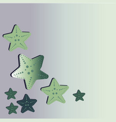 a beautiful green starfish washes ashore vector image