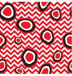 abstact seamless pattern dot and zig-zag line vector image