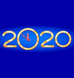 Abstract 2020 clock vector