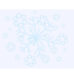 abstract christmas snow flakes vector image