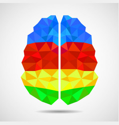 abstract geometric human brain from vector image