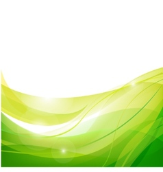 Abstract line green background vector