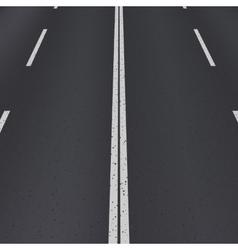 Asphalt highway perspective view vector