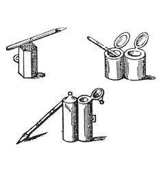 Atramentum or atrament liquid substance vintage vector