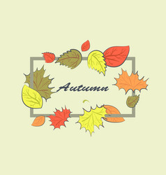 autumn square frame vector image
