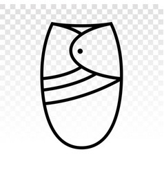 Baswaddling basleep sacks flat icon on a vector